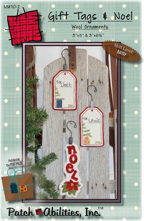 Gift Tag & Noel Wool Ornament Kit
