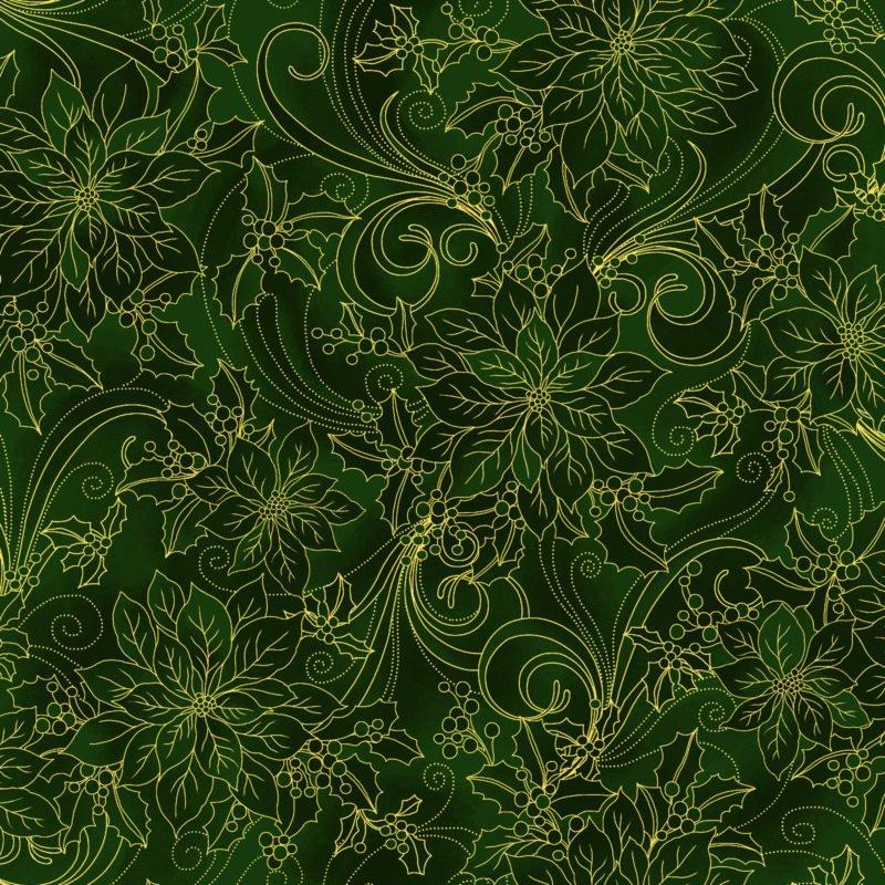 Noel Poinsettia - Green