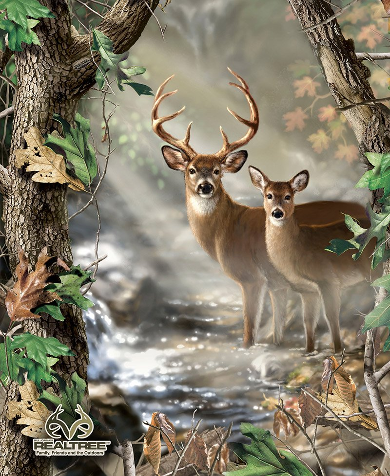 Realtree Buck and Doe 36 Panel