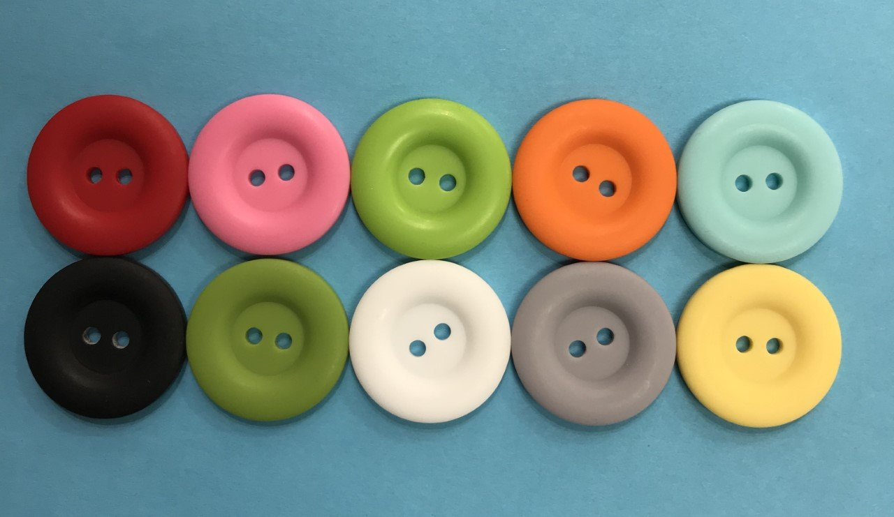 1 Round Buttons - Matte Finish