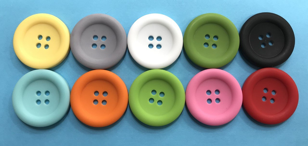 1-1/2 Round Buttons - Matte Finish