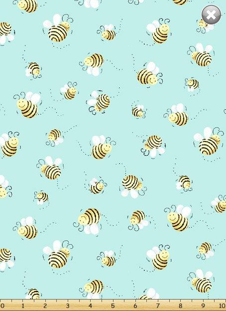 Susybee Buddies - Buzzing Bees on Aqua