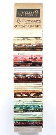 Heirloom Tonga Batik 2-1/2 strips - 48 count