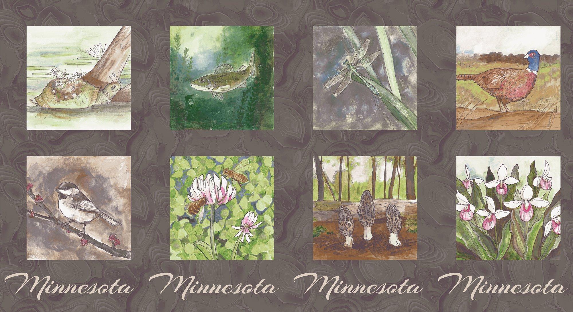 2017 Quilt Minnesota 8 x 8 Panel - Dark Taupe