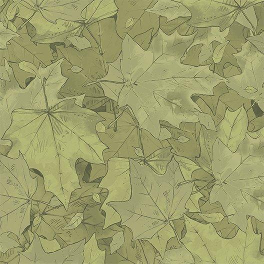2017 Quilt Minnesota Leaves - Olive