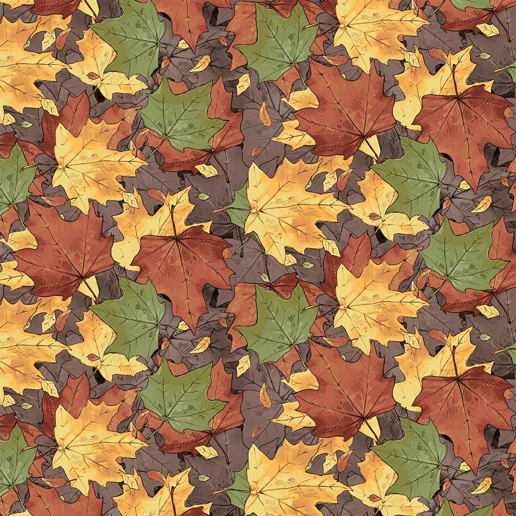 2017 Quilt Minnesota Leaves - Multi Color