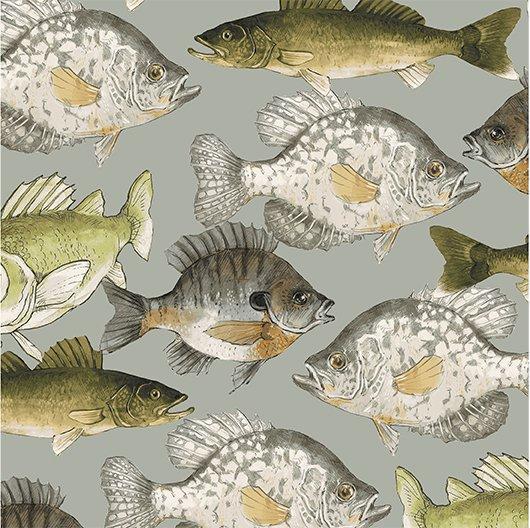 2017 Quilt Minnesota Fish - Taupe