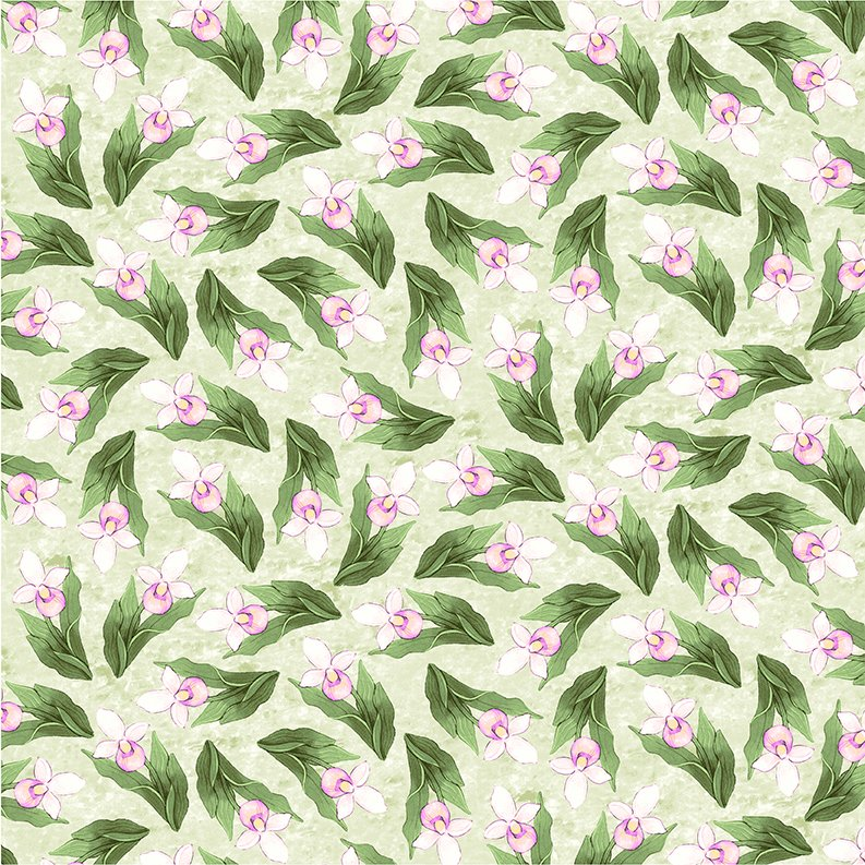 2017 Quilt Minnesota Lady Slippers - Olive