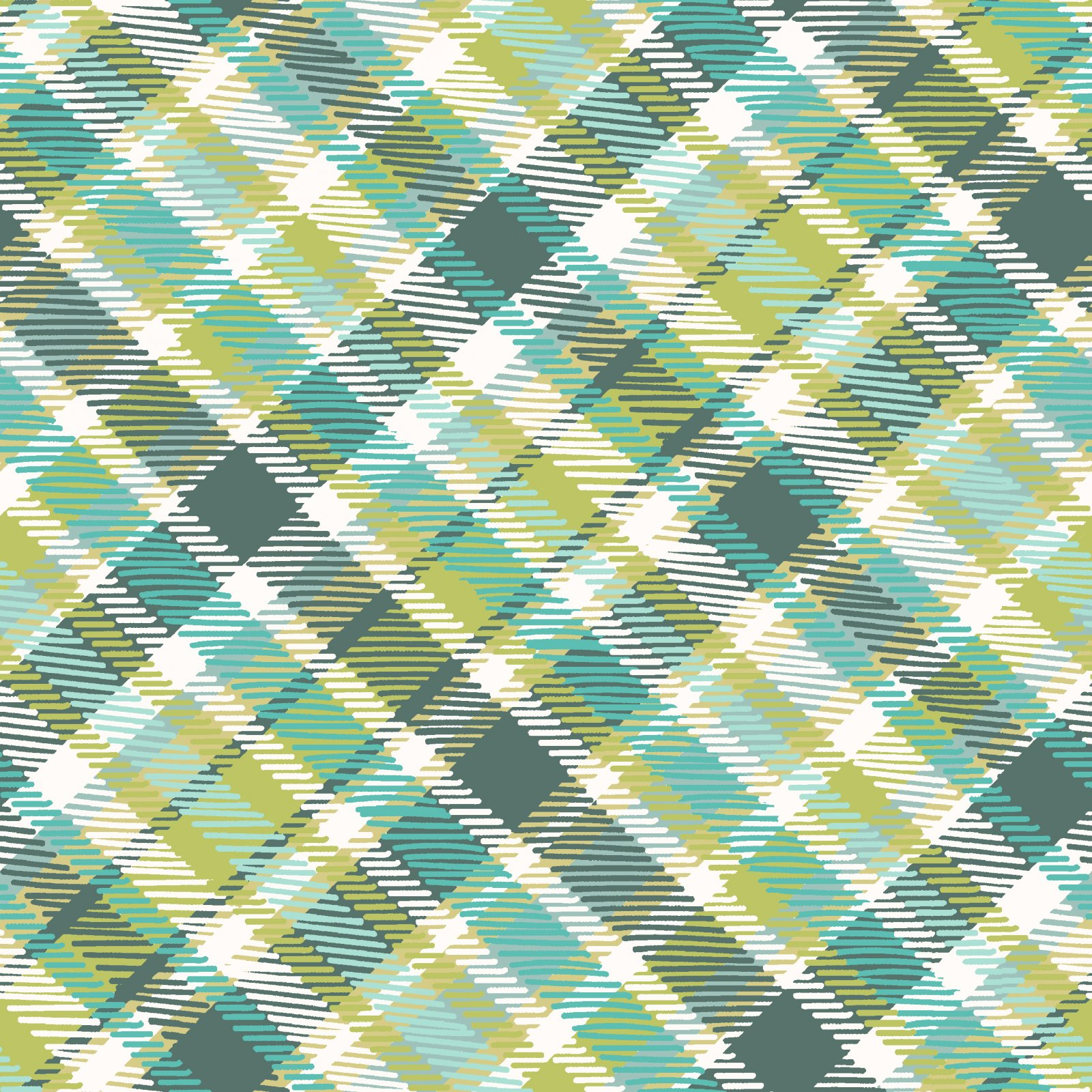 2018 Quilt Minnesota Diagonal Plaid - Light Teal