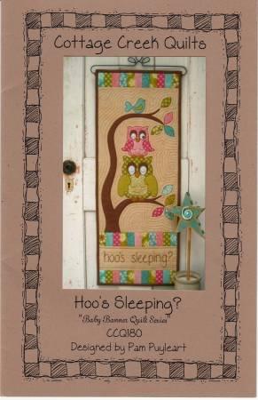Hoo's Sleeping Wool Applique Kit