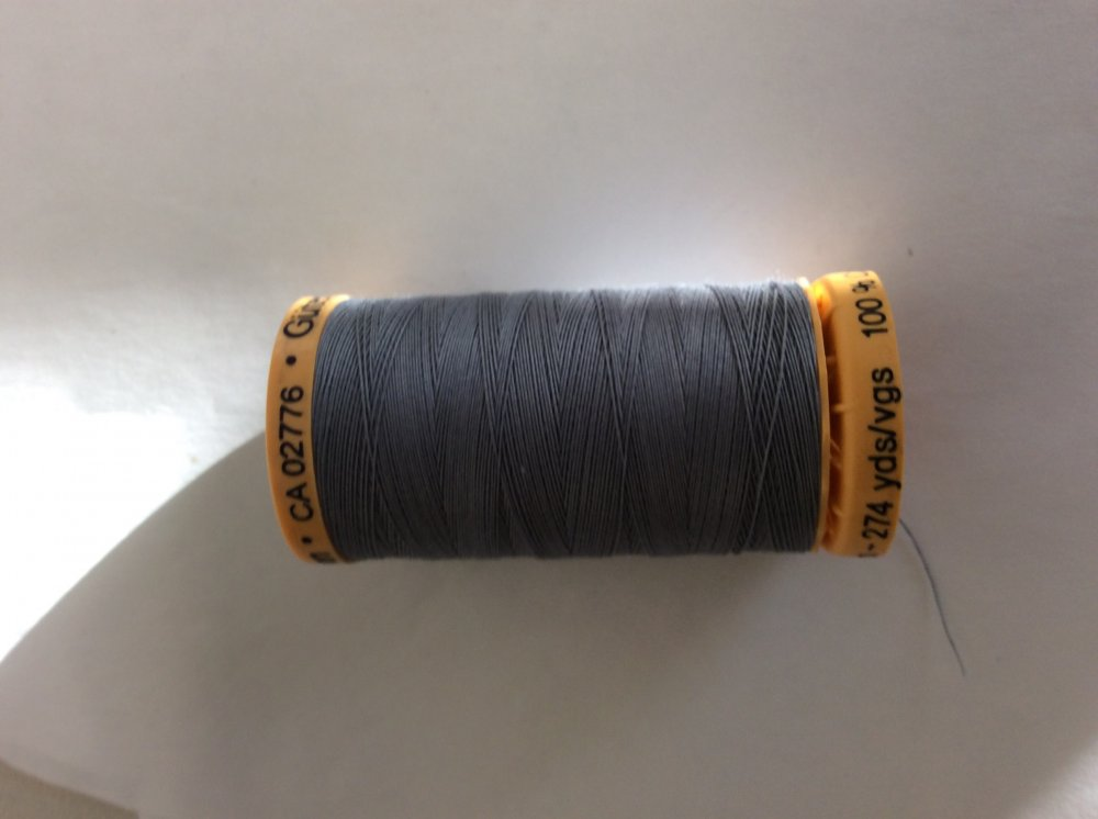 9310 Gutermann Natural Cotton  Thread Light grey 274YD