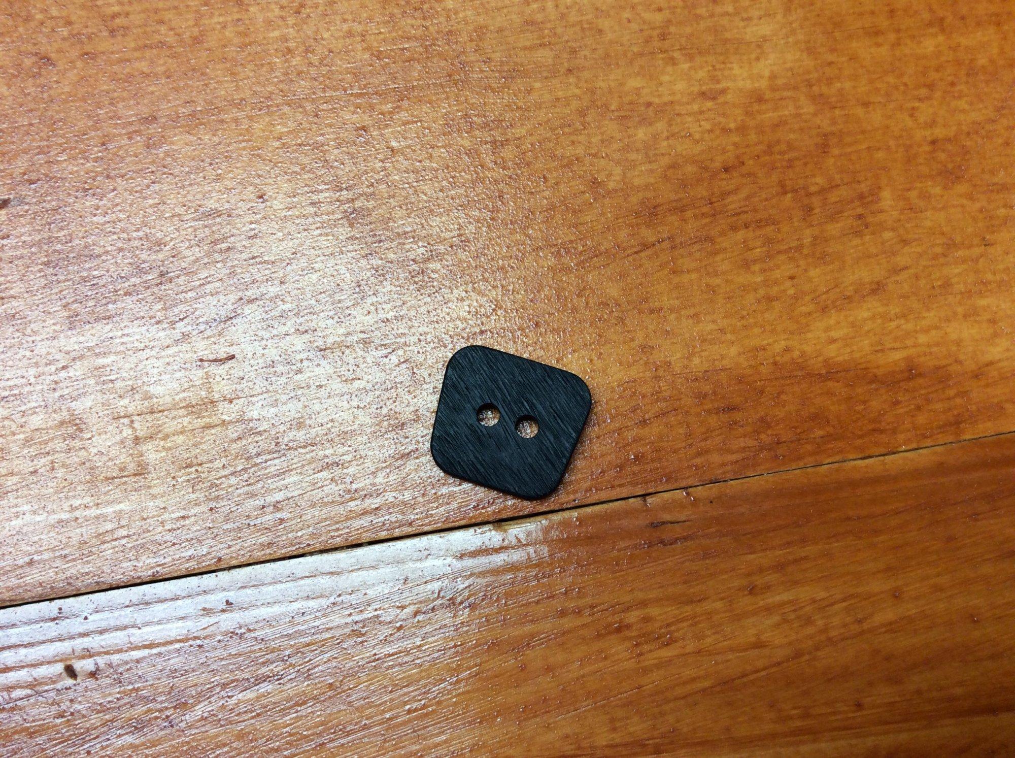 Square Button 23mm