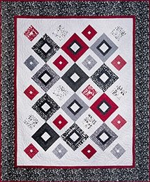 Up Square Down Square Quilt Kit