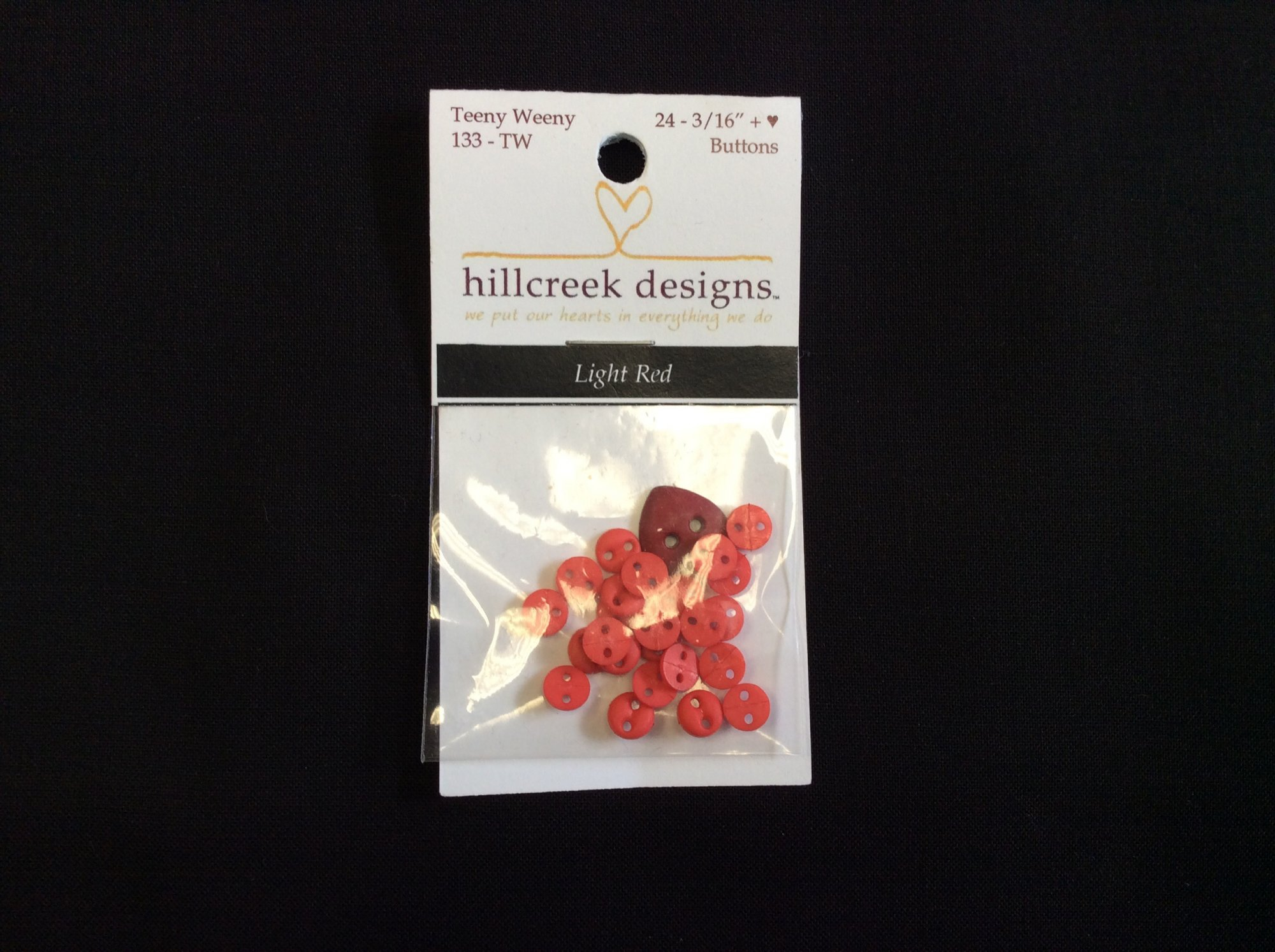 Light Red Teeny Weeny Buttons 133 TW