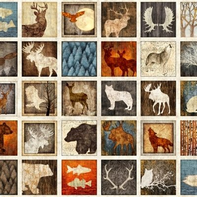 Woodland Spirit Panel Lodge Animals