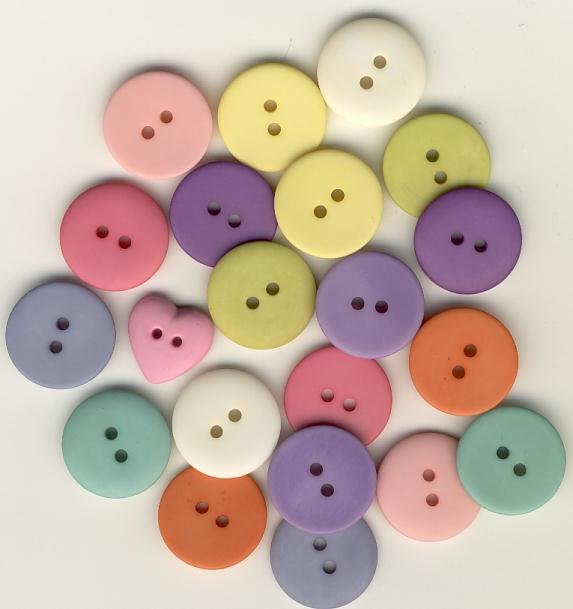 6002-IB Pastel Blend Itsy Bitsy Buttons