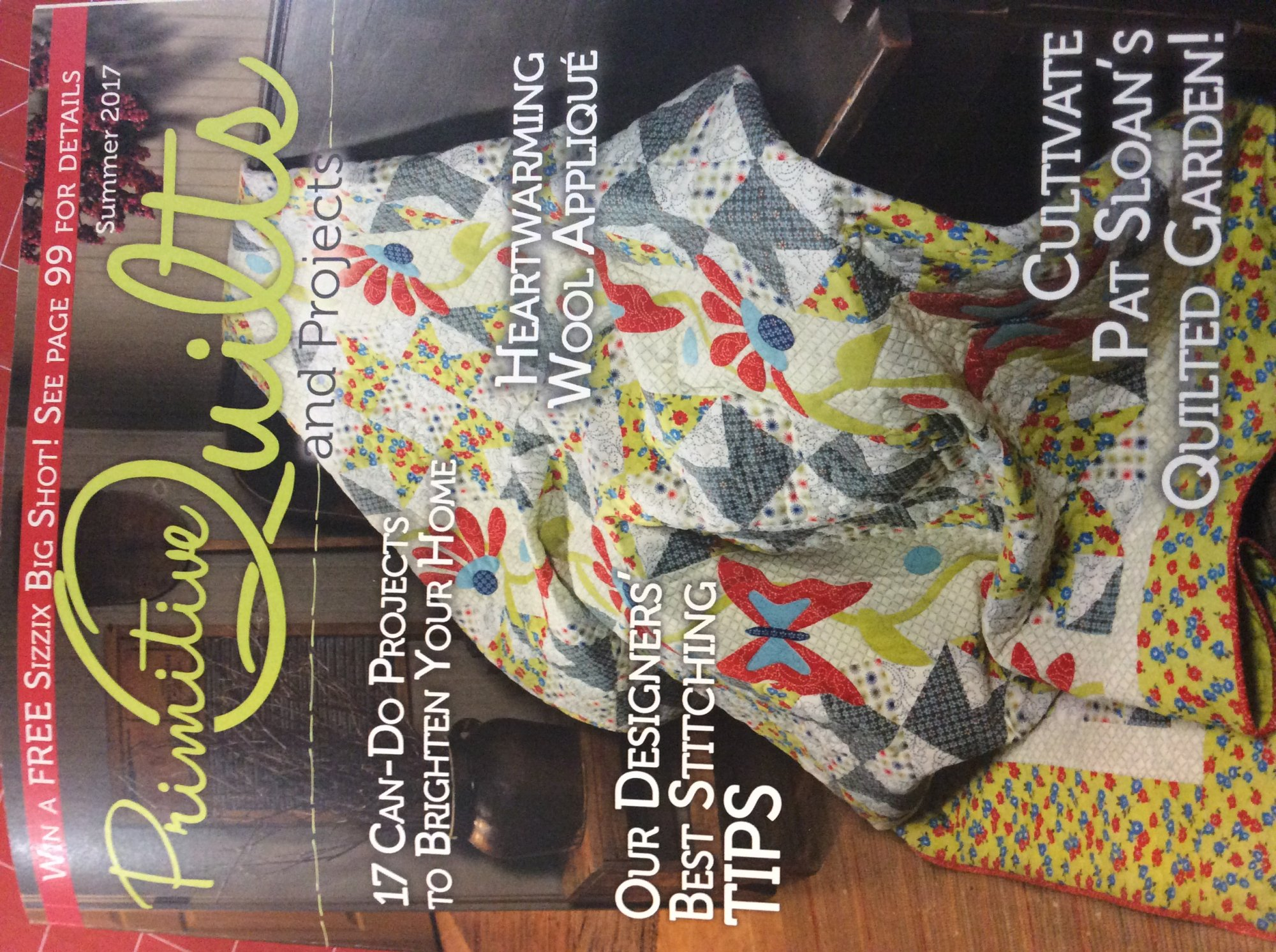 Primitive Quilts and Projects Summer 2017