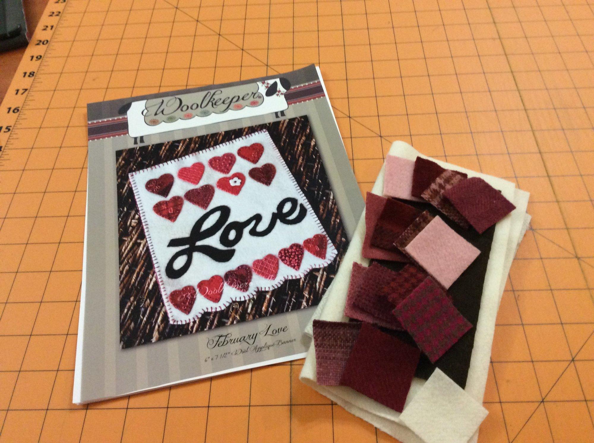 February Love Wool Banner Kit