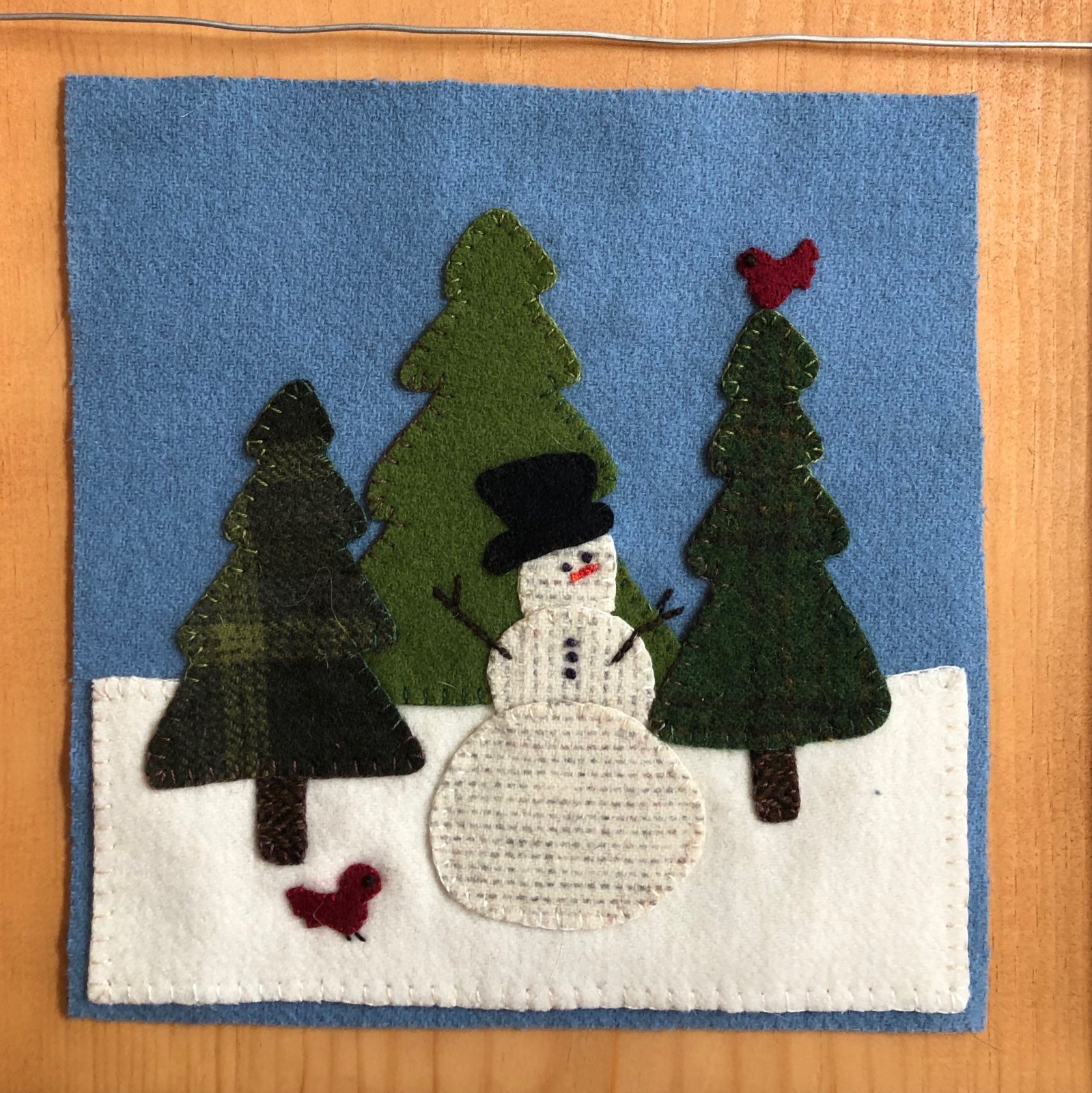 Wooly Block Adv Snowman in the Woods Digital Download