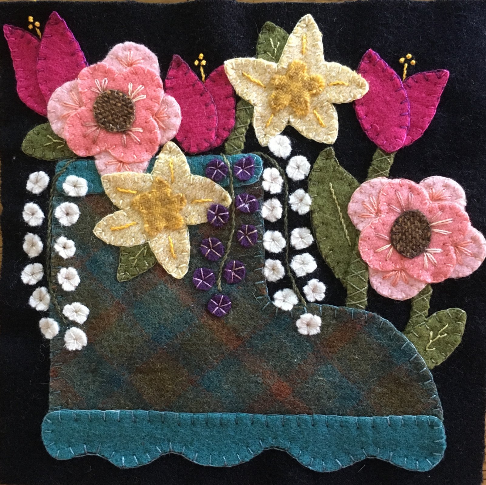 Wooly Block Adventure 2018 Rainy Day Bouquet