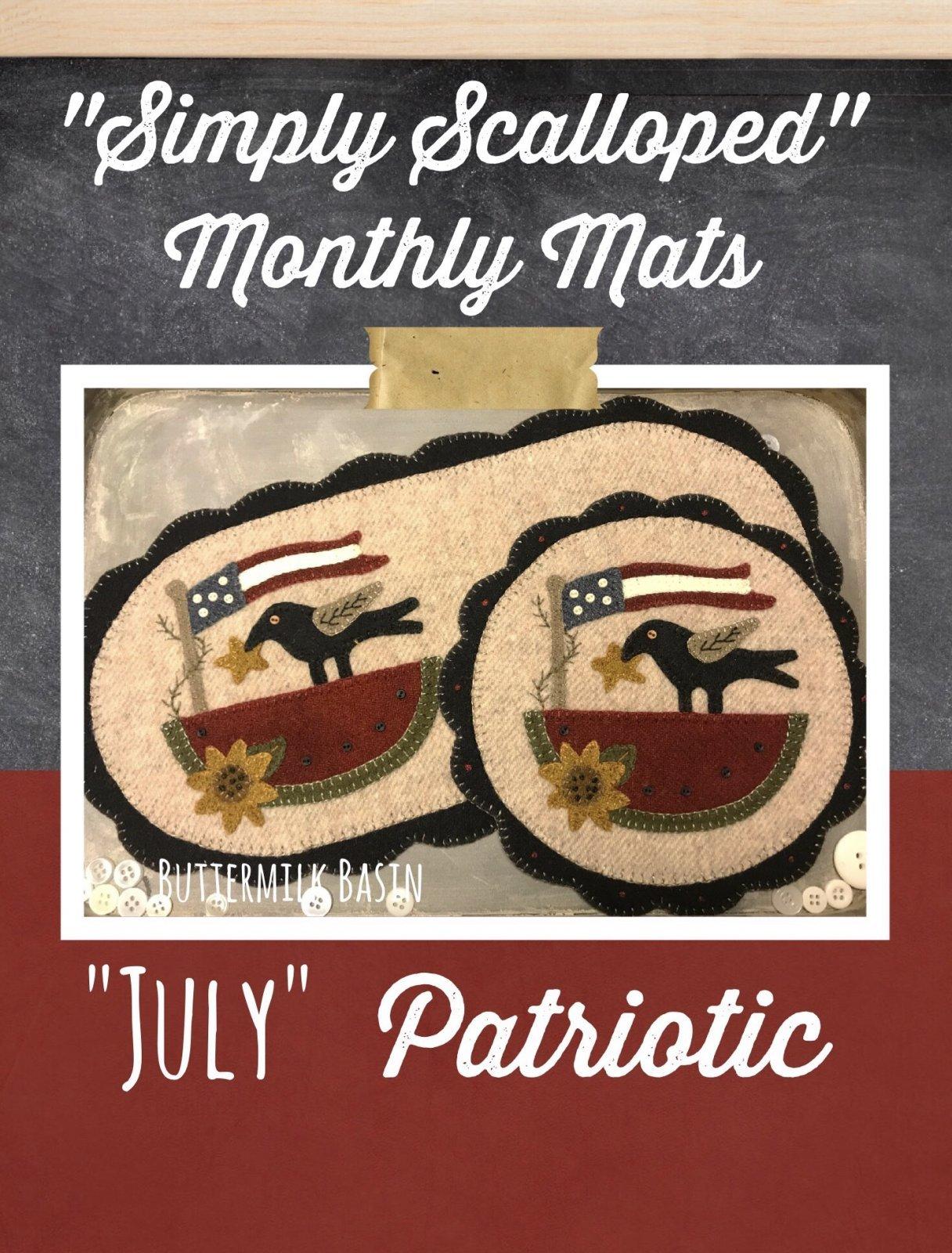 Simply Scalloped Mats July