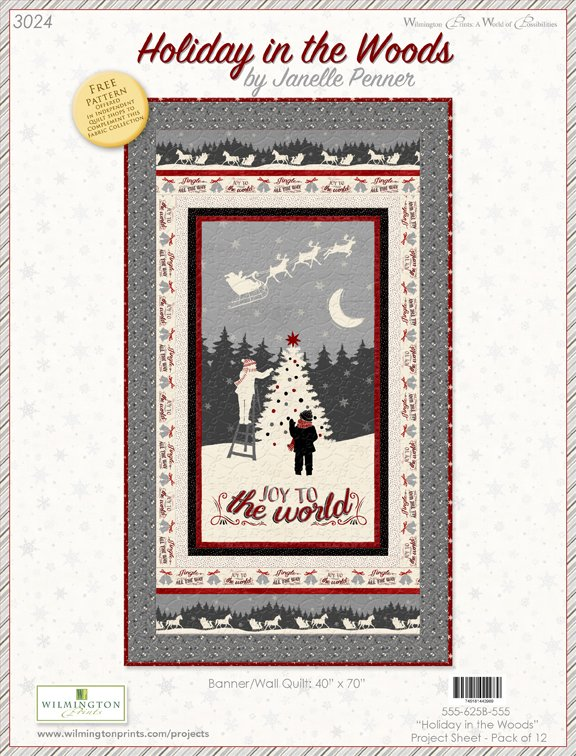 Holiday in the Woods Panel Quilt kit