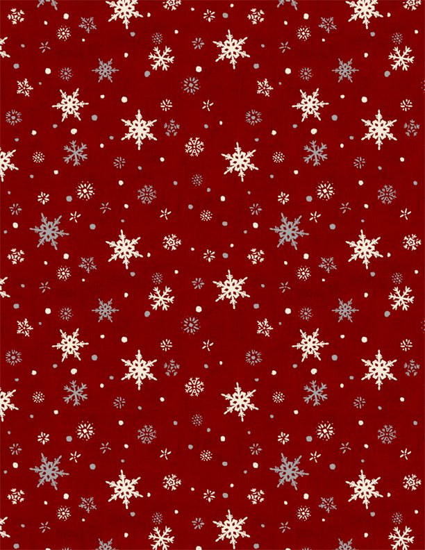 Holiday in the Woods Red Snowflakes 3024-88642-319