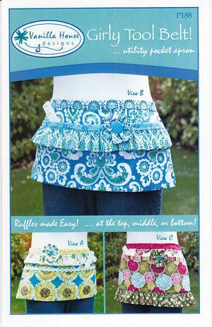Girly Tool Belt - Vanilla House - Quilt fabric pattern