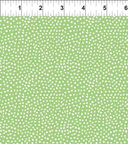 Doodle Blossoms Small Dots Green 11DB 3