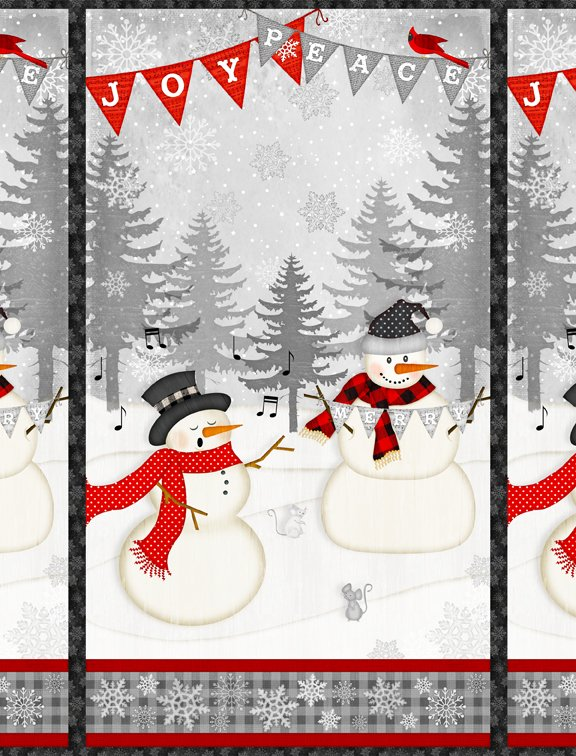 Snowy Wishes Large Panel Multi 1828-82567-931 Jennifer Pugh