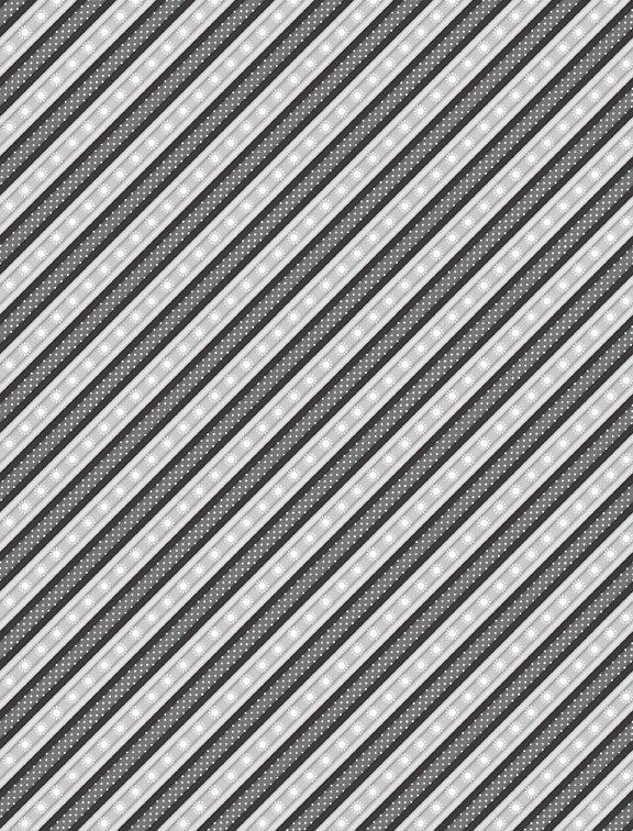Snowy Wishes Ticking Stripe Black 1828-82572-991 Jennifer Pugh