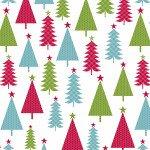 Jolly Trees White/Multi 6905-09