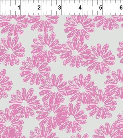 Doodle Blossoms Daisies Lavender 7DB 1