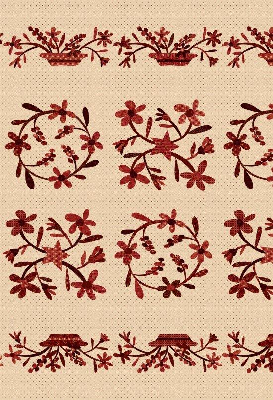 Berries & Blossoms Janet Rae Nesbitt One Sister Designs 8832P-44