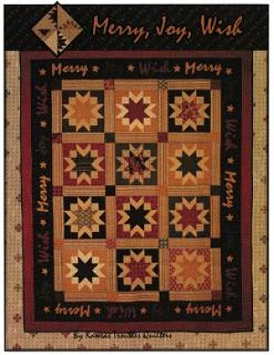 Merry, Joy, Wish - Kansas Troubles - Quilt fabric pattern