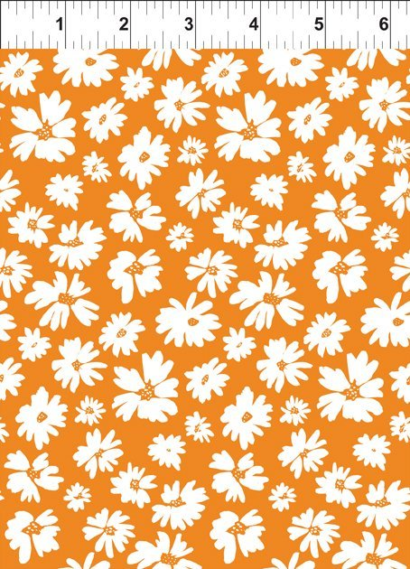 Doodle Blossoms Wildflowers Orange 9DB 2