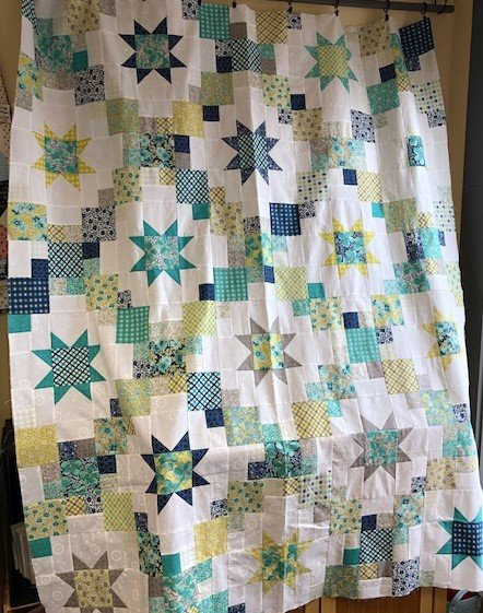 Brightly Flowers for Freya quilt kit