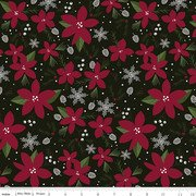 Winterberry Main Floral My Minds Eye C8440-Black