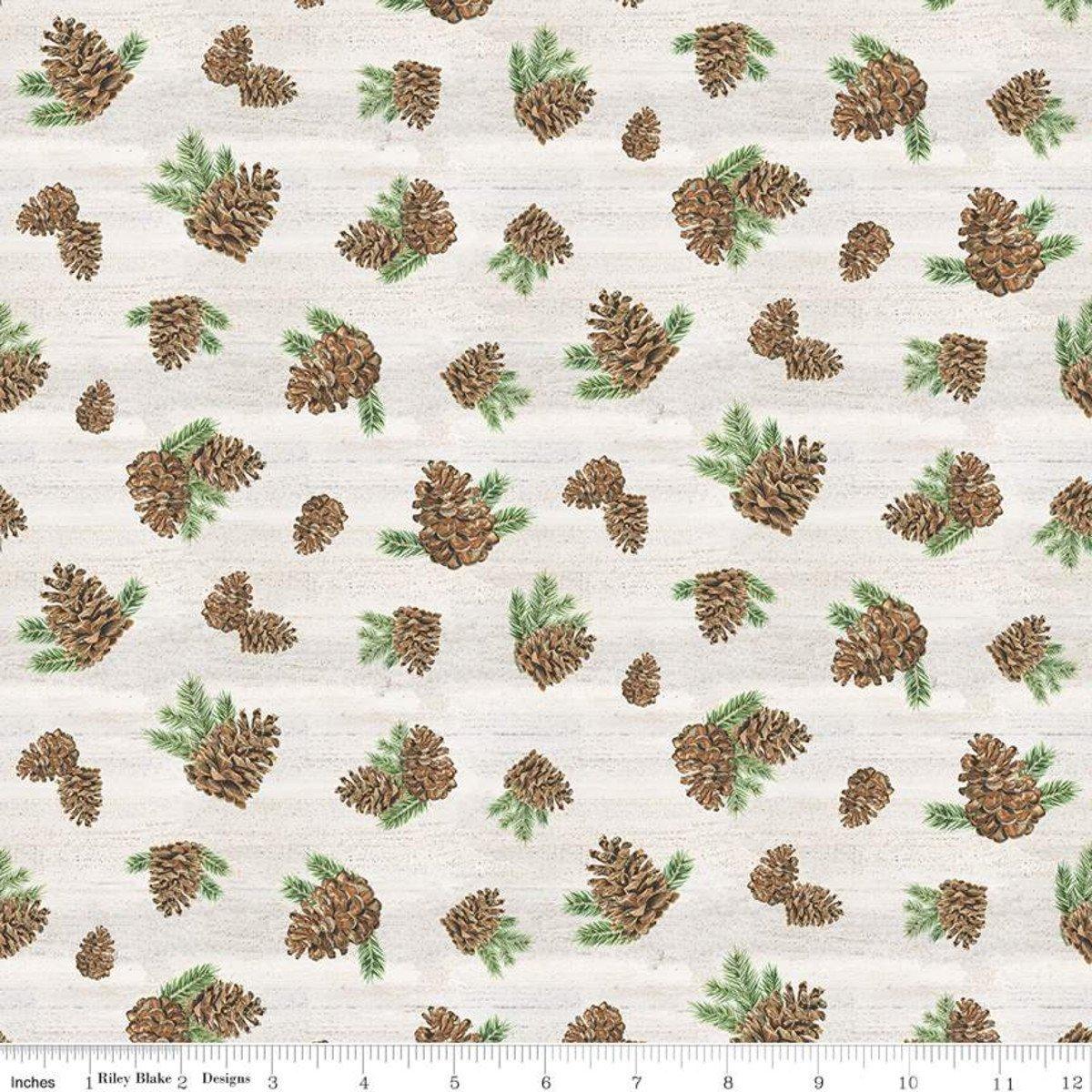 Send me to the Woods Pinecones Cream C9274-Cream