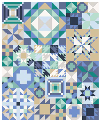 My Favorite Color is Moda  quilt kit  COASTAL COOL