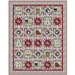 Country Weekend quilt kit Rustic Village Christmas