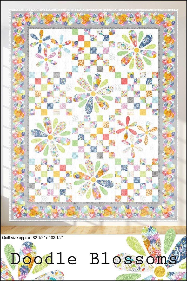 Doodle Blossoms quilt pattern