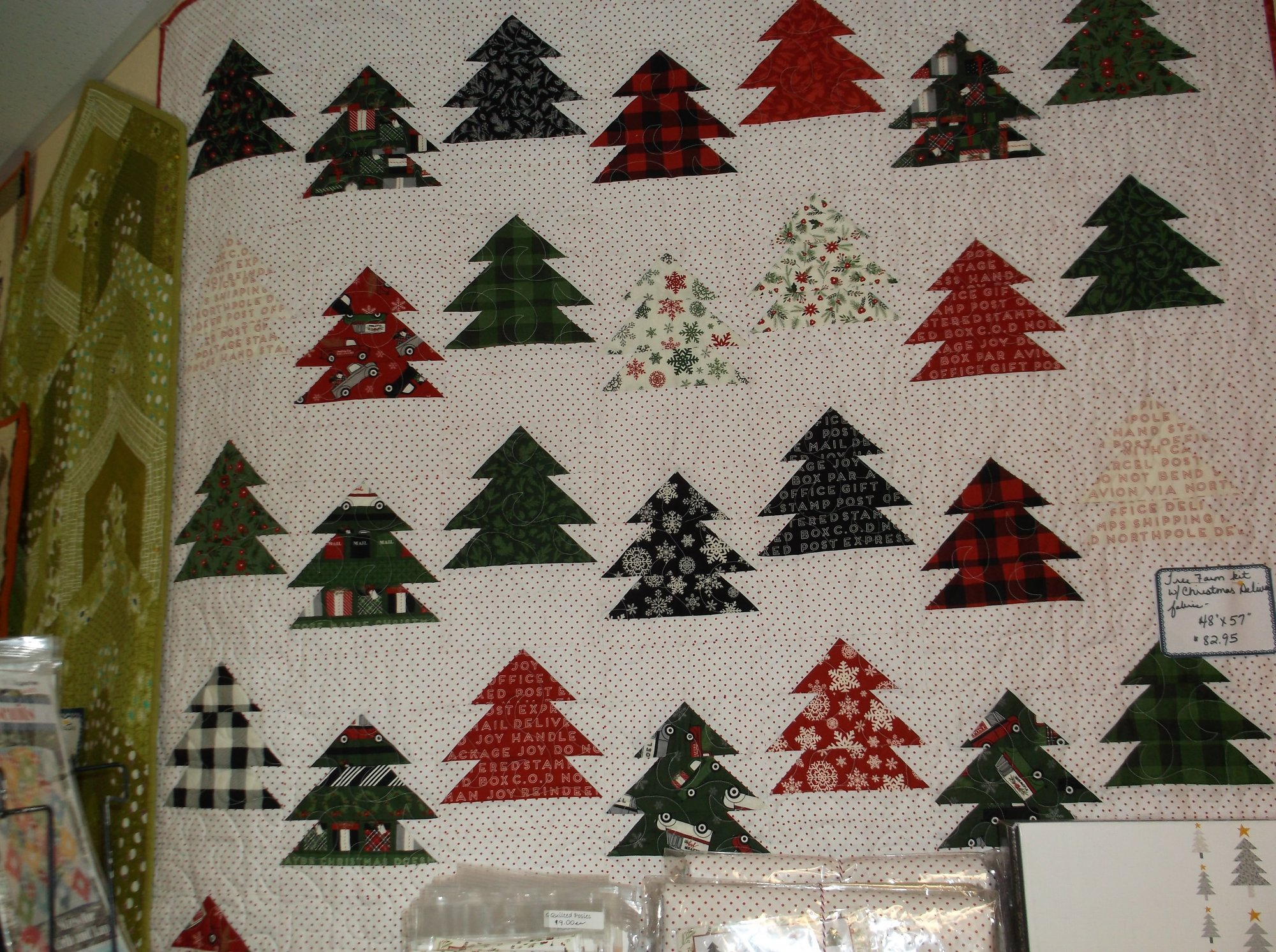 Tree Farm Quilt kit Christmas Delivery