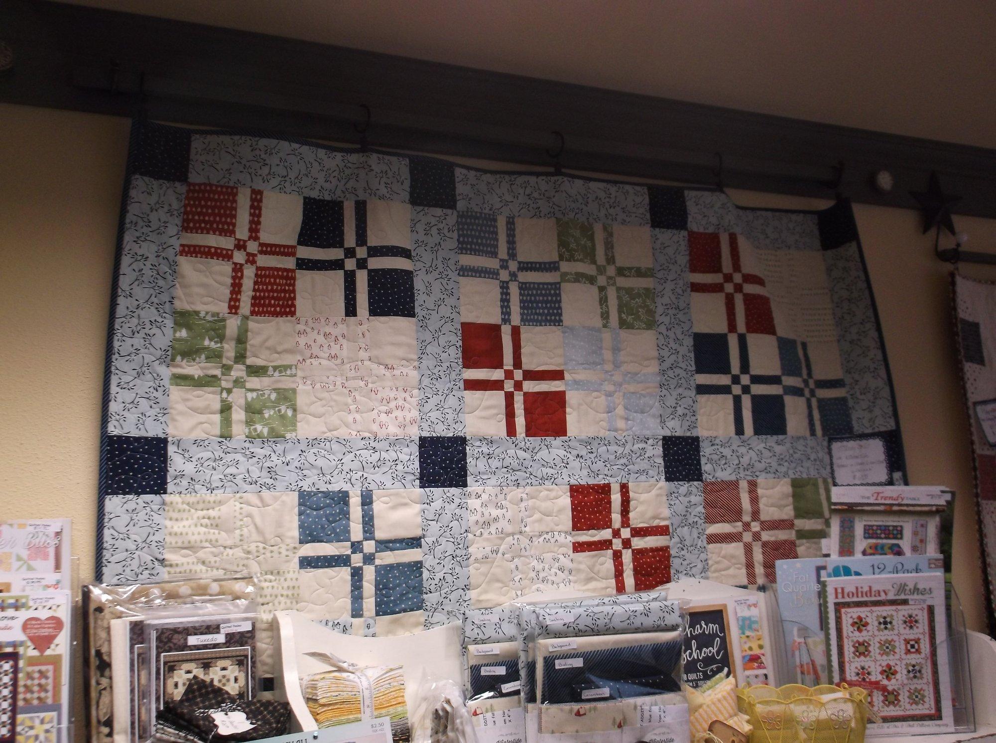 Lickety Split quilt kit Wintertide