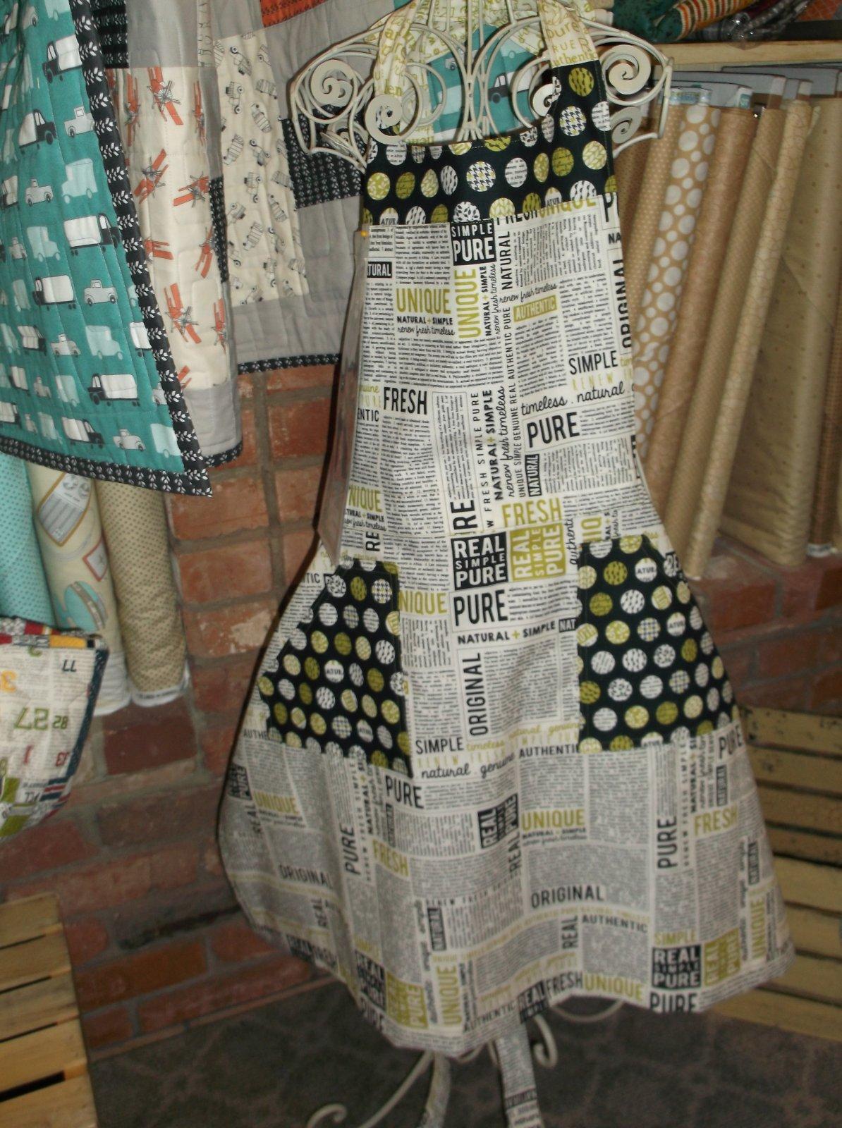 Mix Measure Stir Apron Kit Authentic fabric