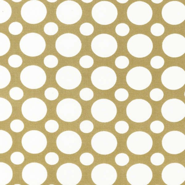 Khaki Small & Large Dots - Robert Kaufman - Ezc12871214