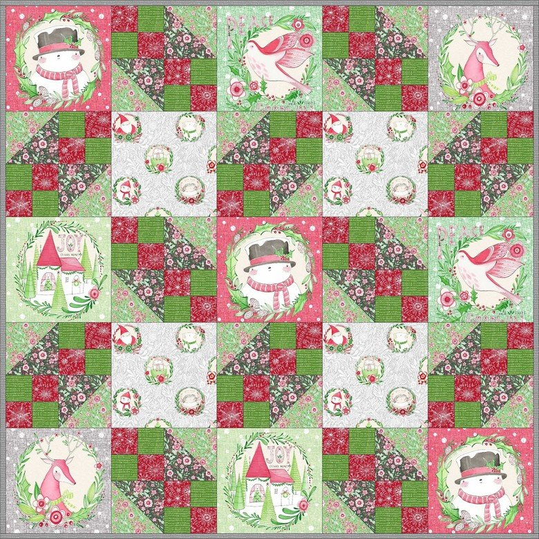 Gift Wrap quilt kit Merry & Bright Cori Dantini