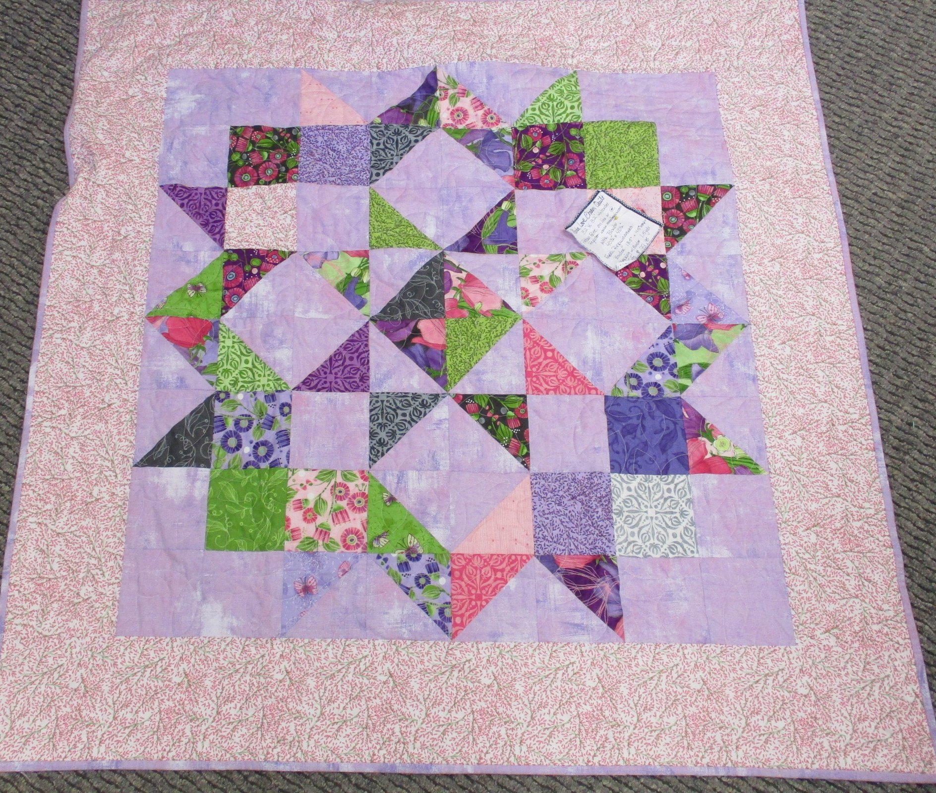 Moda Love Charm Quilt kit Sweet Pea and Lilly