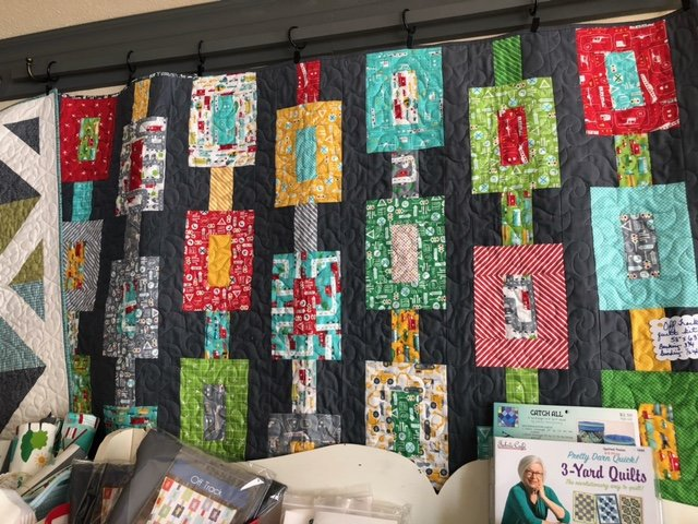 Off Track quilt kit On the Go fabric
