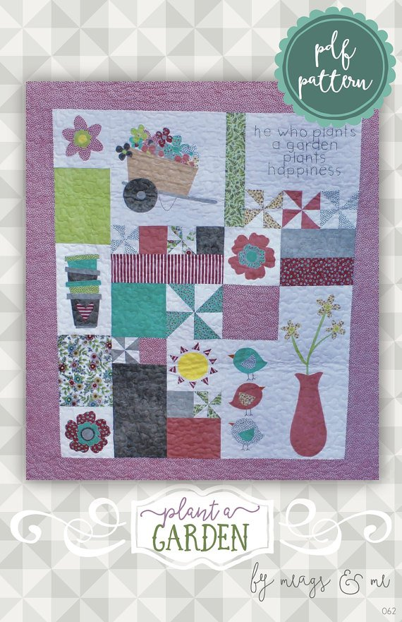 Plant A Garden Garden Quilt by Meags & Me
